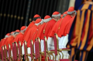 Cardinals attend a canonisation mass led