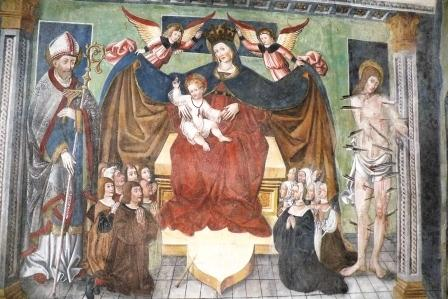 "Lusernetta, cappella San Bernardino, psuedo Jacobino Longo ""Madonna della Misericordia"", 1512"