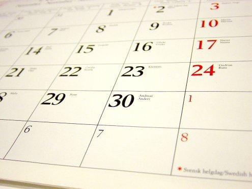 Appuntamenti di febbraio