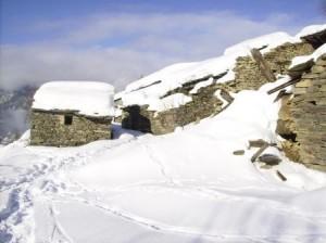 Una borgata abbandonata nella Conca Cialancia