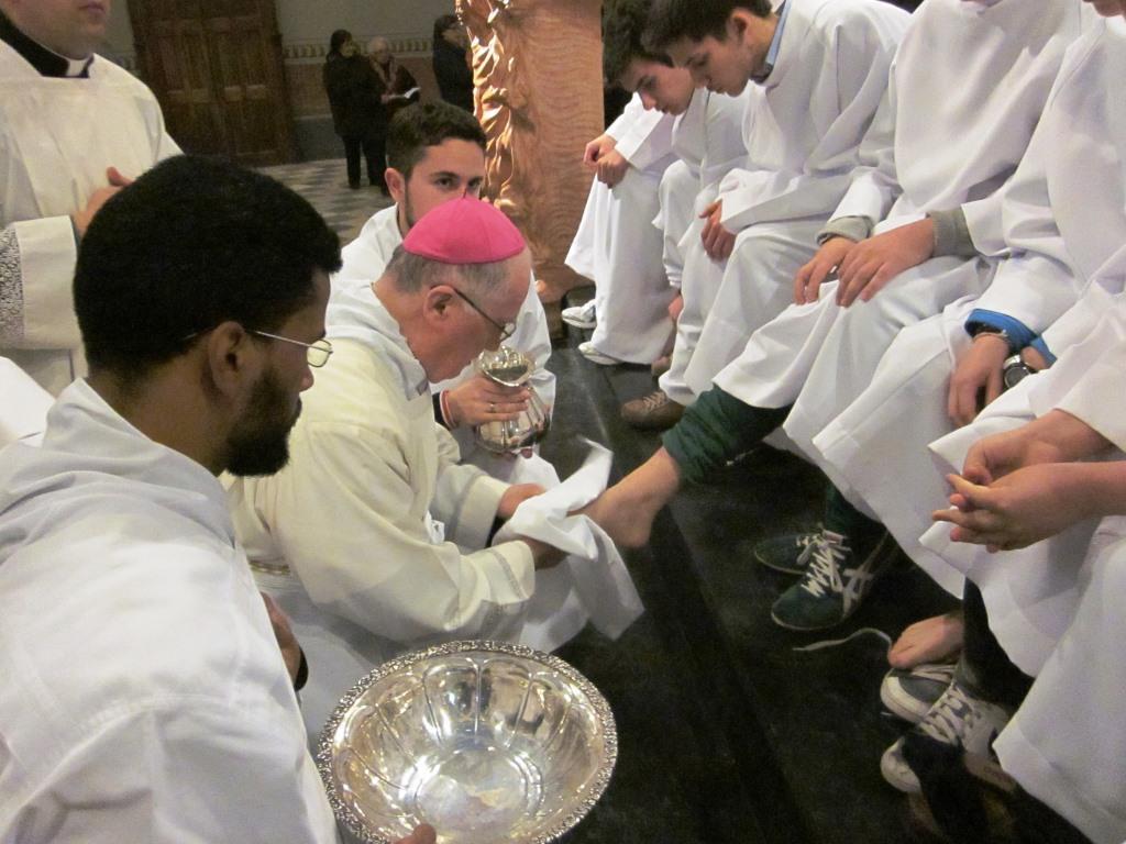 Nelle chiese della diocesi il rito della lavanda dei piedi