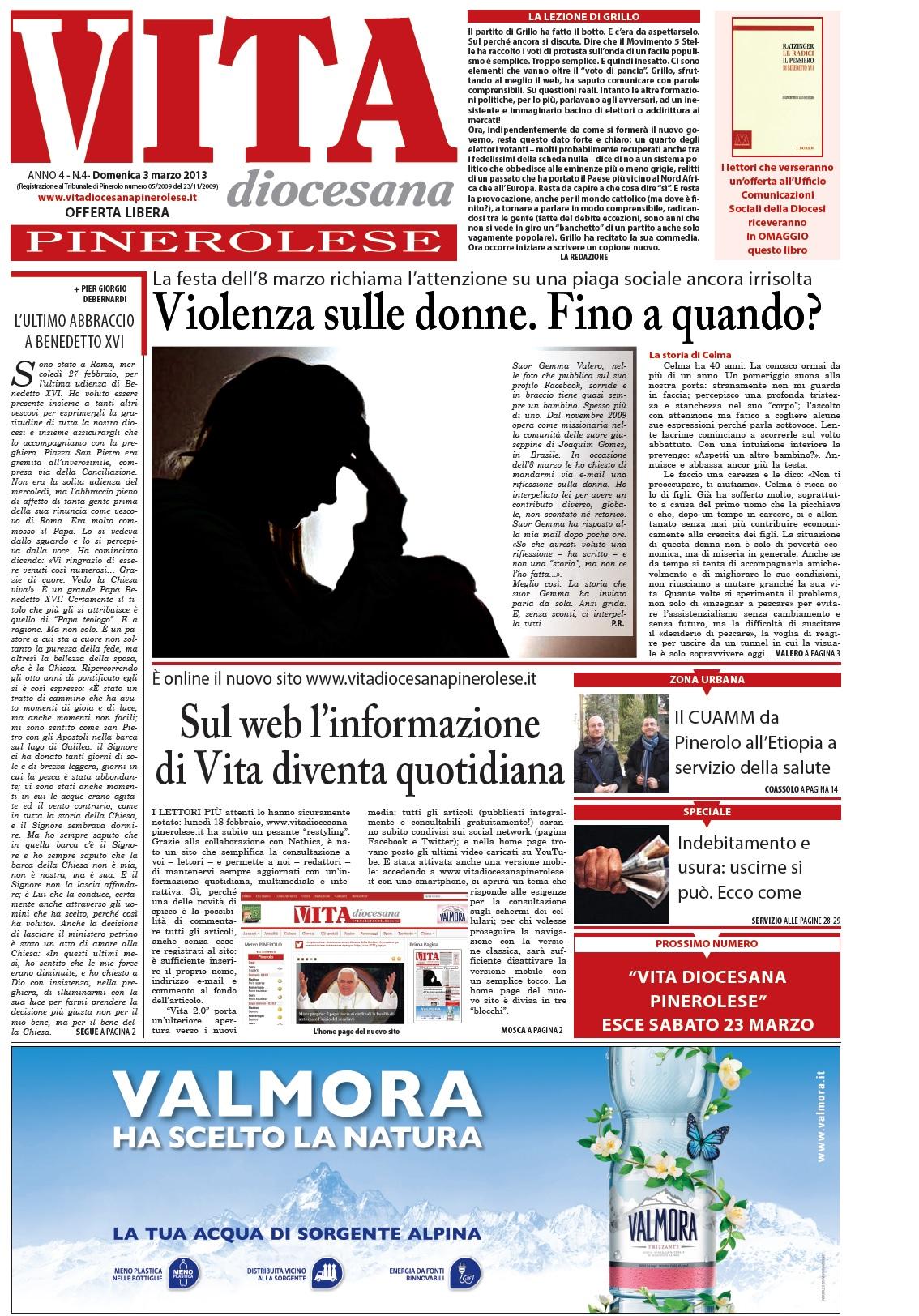 Prima pagina numero 4 - domenica 3 marzo 2013