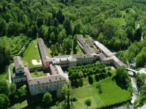 Una panoramica della Certosa di Pesio (CN)