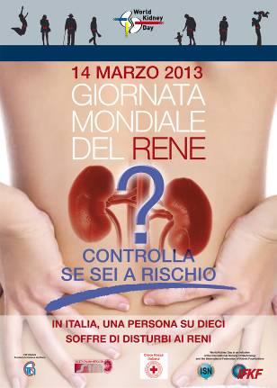 Il 14 marzo ricorre la Giornata Mondiale del Rene