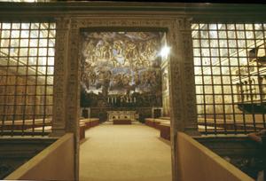 L'ingresso della Cappella Sisistina