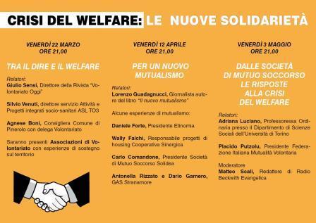 Crisi del Welfare le nuove Solidarietà