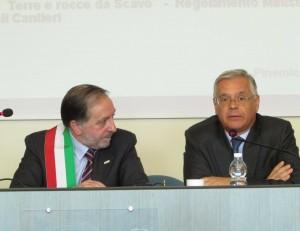 Eugenio Buttiero e il prefetto Alberto Di Pace
