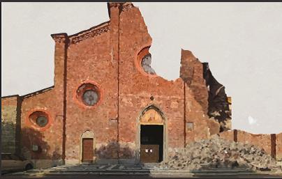 È crollata la Basilica di San Maurizio!