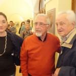 Da sinistra: la giornalista Anna Maria Gai,  il pittore Marcello Ruffino e il pittore Giuseppe Giacone