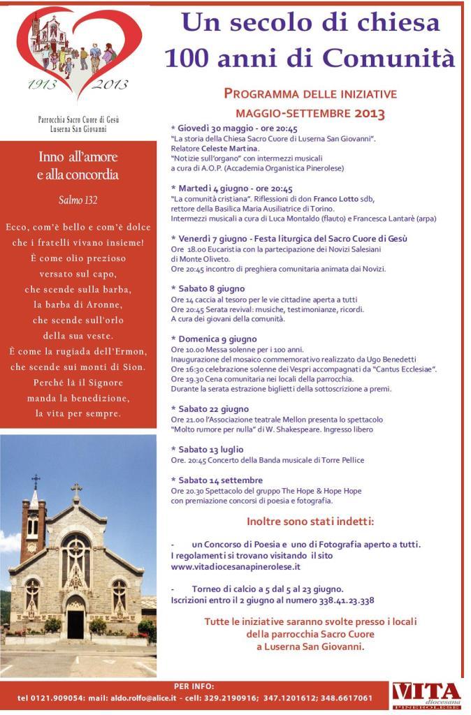 100 anni di Luserna Sacro Cuore
