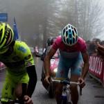 Mauro santambrogie e Vincenzo Nibali, primo e secondo sul traguardo della 14° tappa (Foto Gianluca Bonnet)