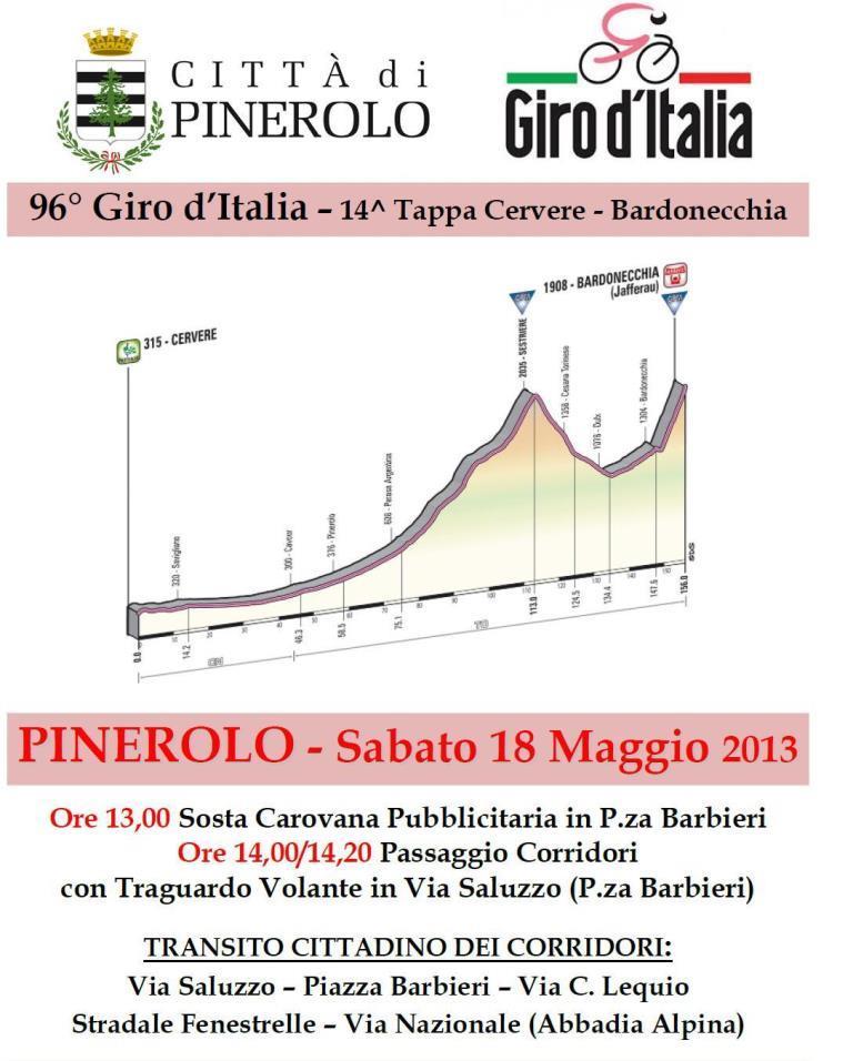 Giro 2013 a Pinerolo