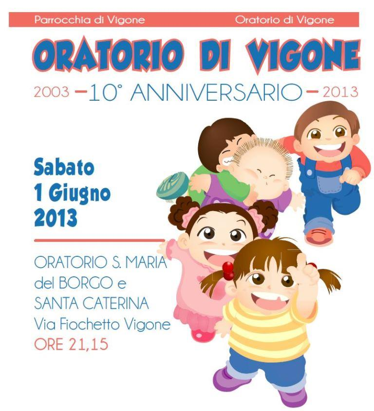 10 candeline per l'Oratorio di Vigone