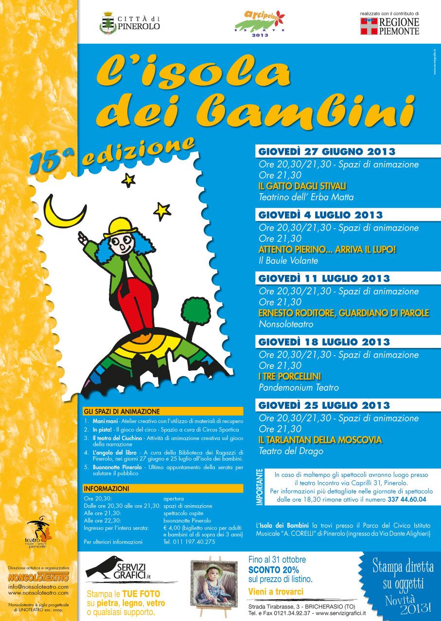 """Pinerolo. """"L'Isola dei Bambini"""" 2013 al """"Corelli"""""""