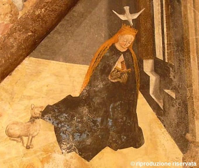 Un dettaglio degli affreschi della Cappella di Sant'Anna a Cercenasco