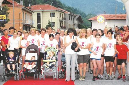 Partenza non competitiva Corri in Rosa 2012