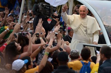 Papa Francesco alla GMG di Rio: «Voglio che la chiesa esca per le strade»