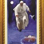 Papa Francesco nel dipinto di Sesia della Merla