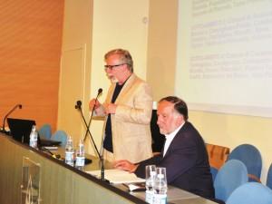 L'assessore provinciale Roberto Ronco (a sinistra) e il sindaco di Pinerolo Eugenio Buttiero