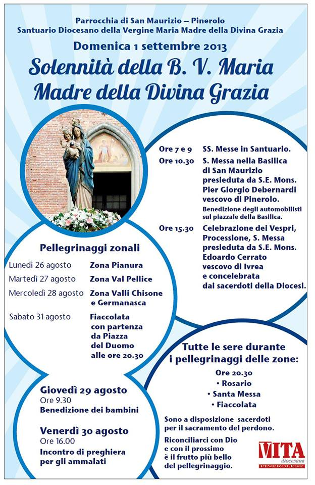 La Diocesi di Pinerolo si raccoglie nel santuario mariano