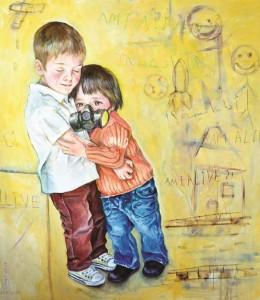 Un'opera dell'artista siriano Abdullah Al-Omari