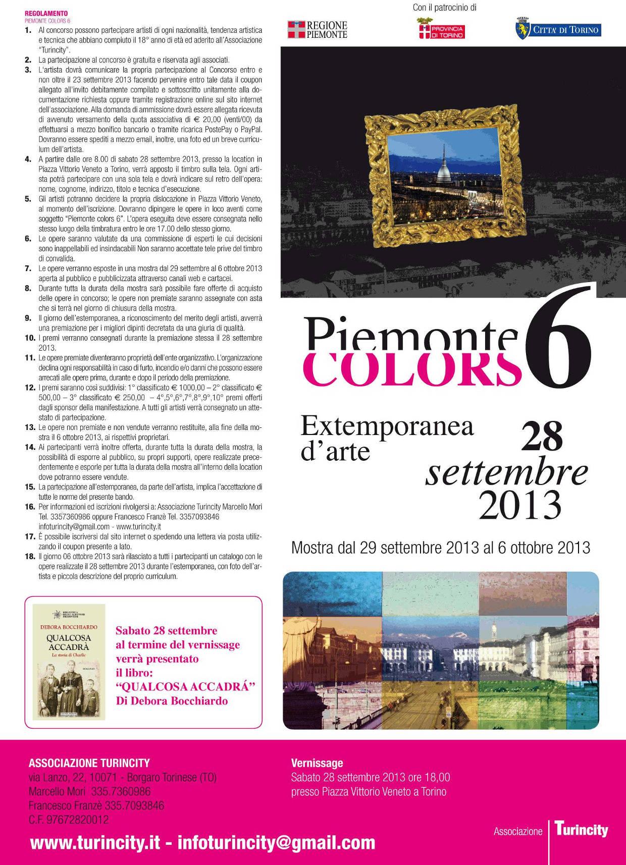 Piemonte colors 6, Estemporanea d'arte il 28 settembre