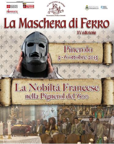 """Pinerolo. Il 5 e 6 ottobre torna """"La Maschera di Ferro"""""""
