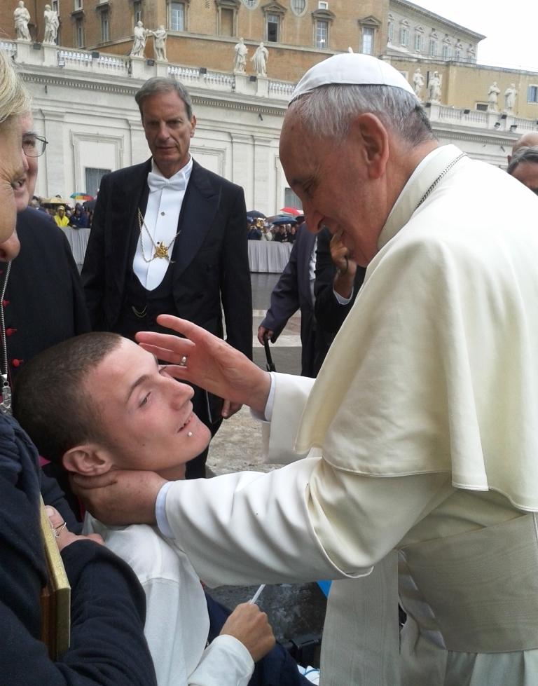 Michael ha incontrato Papa Francesco: un sogno che si realizza