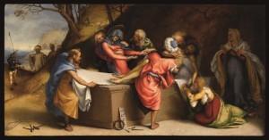 Deposizione di Cristo nel sepolcro (1513-1516), predella della pala Martinengo Colleoni