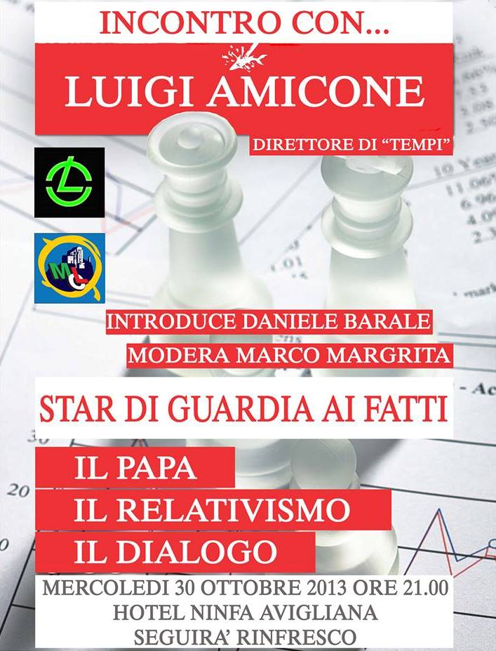 Avigliana. Il 30 ottobre incontro con Luigi Amicone