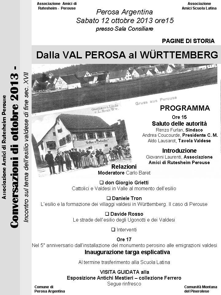 Dalla Val Perosa al Wurttemberg