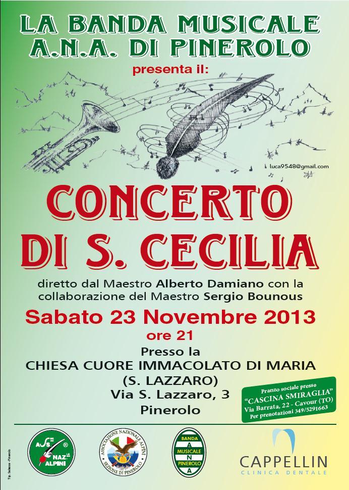 """Pinerolo. Il 23 novembre a San Lazzaro """"Concerto di Santa Cecilia"""""""
