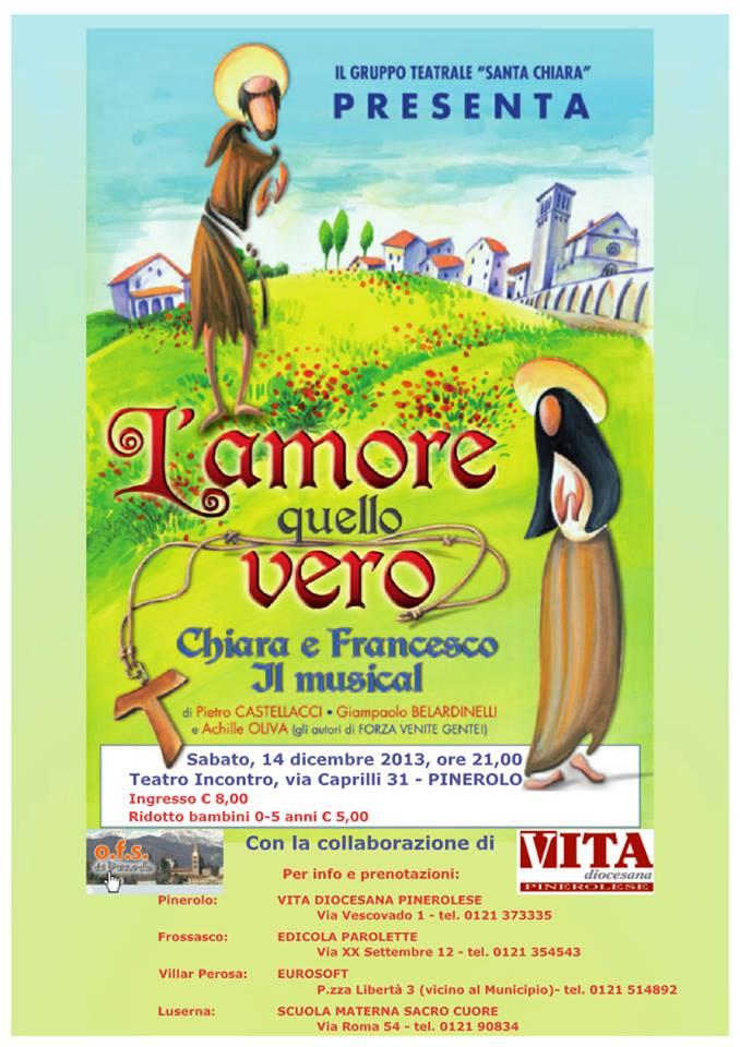 """Pinerolo. Il 14 dicembre il Gruppo Teatrale """"Santa Chiara"""" mette in scena i santi di Assisi"""