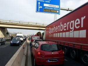 Bloccata l'autostrada in direzione Pinerolo