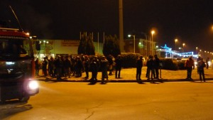 La situazione alla rotonda del bivio di Roletto (ore 18:30)