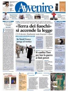 La nuova veste grafica di Avvenire nella prima pagina del 4 dicembre 2013