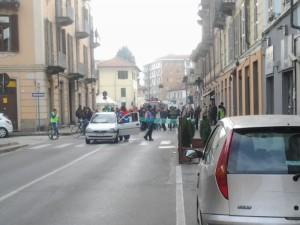 Pinerolo. Il blocco di via Saluzzo (ore 13)