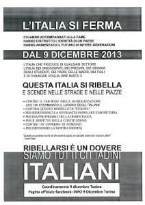 Volantino L'Italia si ferma