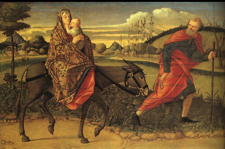 Giuseppe prese con sé il bambino e sua madre
