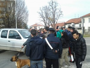 Pinerolo, corso Torino (ore 14)