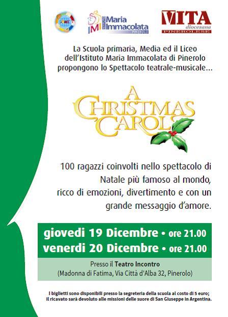 """Pinerolo. Il 19 e 20 dicembre """"A Christmas Carol"""" al Teatro Incontro"""