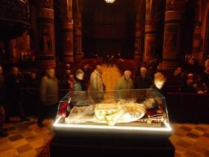 L'urna di don Bosco nella Cattedrale di Pinerolo