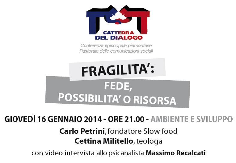 Carlo Petrini e Cettina Militello alla Cattedra del dialogo