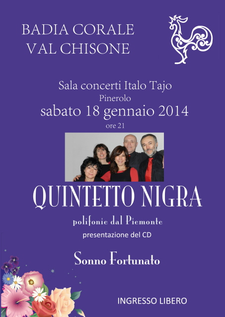 Pinerolo. Sabato 18 gennaio il Quintetto Nigra
