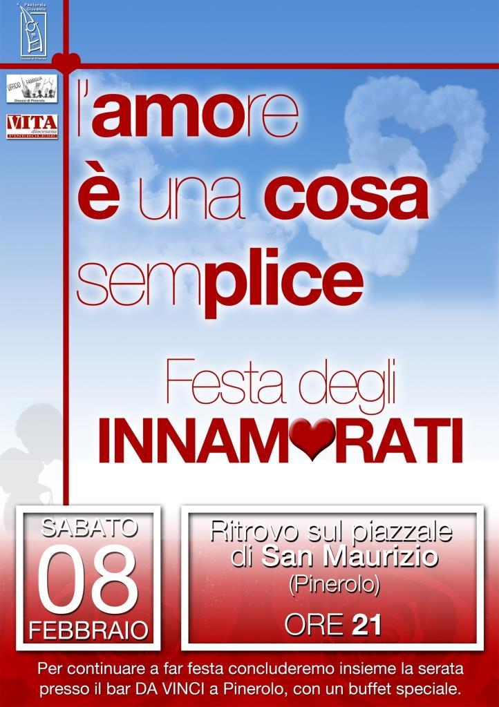 A Pinerolo l'8 febbraio la festa degli innamorati