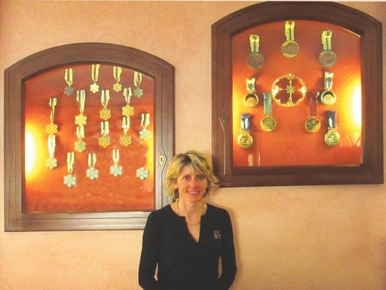 Stefania Belmondo con il suo ricco medagliere