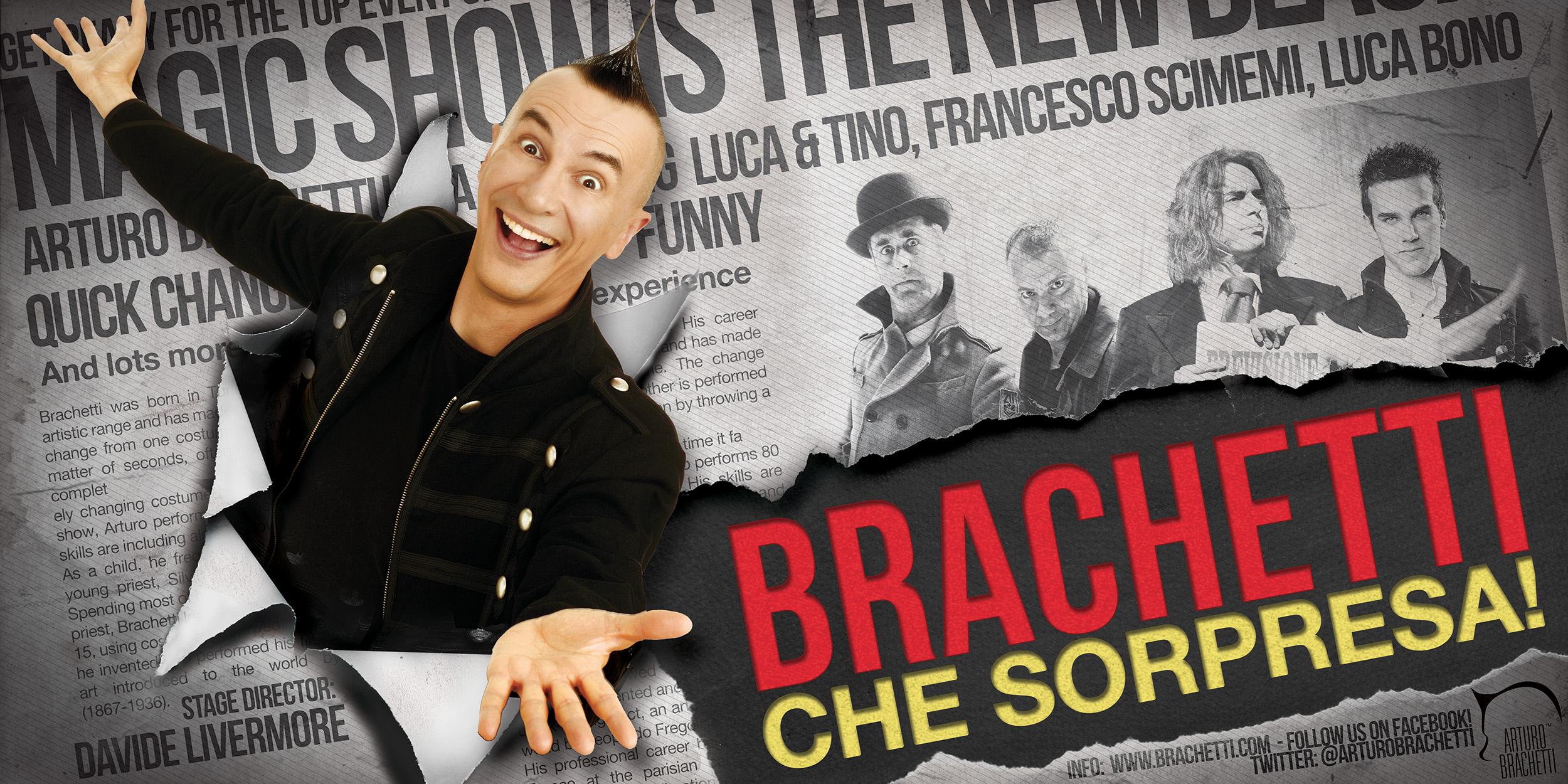 A Biella e Pinerolo le anteprime del nuovo spettacolo di Brachetti
