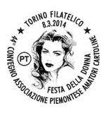 A Torino, l'8 marzo in cartolina e francobollo
