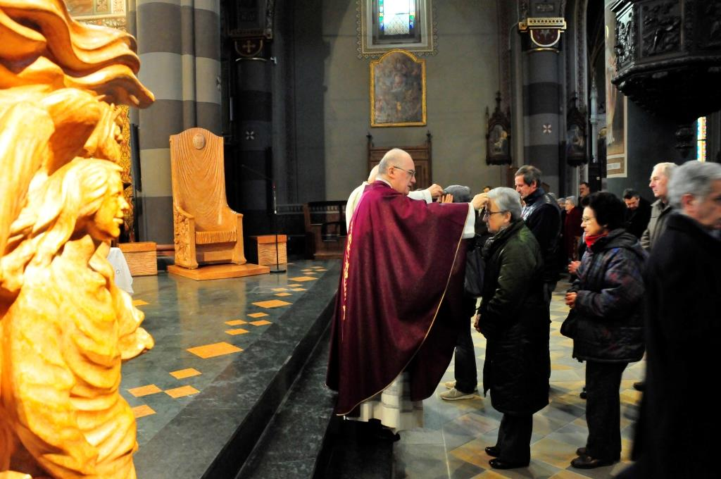 [ photo-gallery ] Mercoledì delle ceneri nella cattedrale di Pinerolo