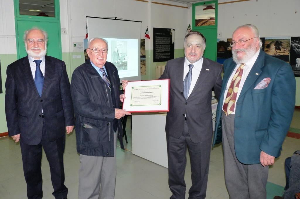 Da sinistra Pietro Ricchiardi, Aurelio Bernardi, Eugenio Buttiero e Dario Seglie